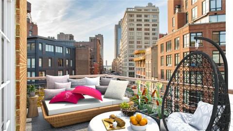Small Balcony in Tribeca - Modern - Garden - by Dijana93