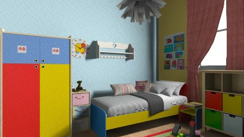 happy - Kids room - by cat17017