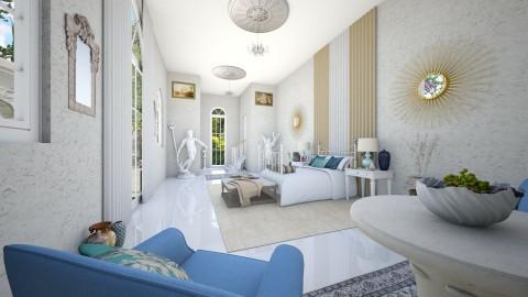 Greek Bedroom - Glamour - Bedroom - by DeborahArmelin