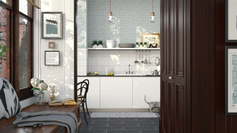 08 - Eclectic - Kitchen - by Y A Q I Y N
