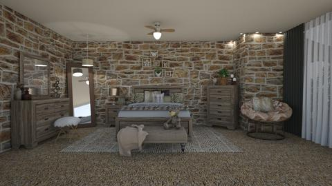 Leopard Stone Room - Bedroom - by martinal2