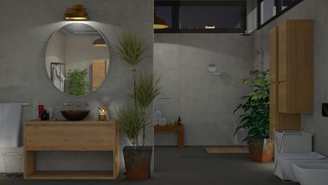 Concrete Bath - Bathroom - by GraceKathryn