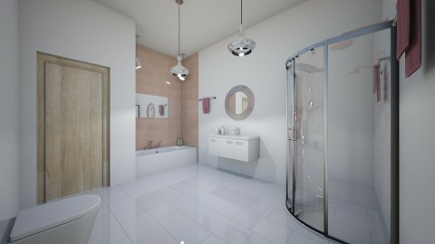 banheiro de meninas  - Glamour - Bathroom - by kelly lucena
