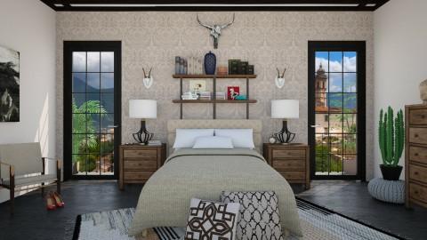 Beige and Brown - Rustic - Bedroom - by DeborahArmelin