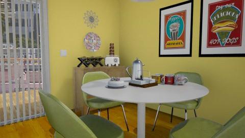 Retro Eating Nook - Retro - Dining room - by LadyVegas08