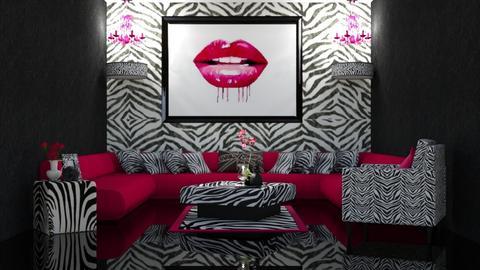 Pink Zebra - Living room - by creato