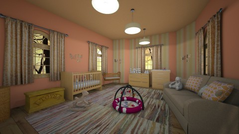 peachy nursery - Rustic - Kids room - by kla