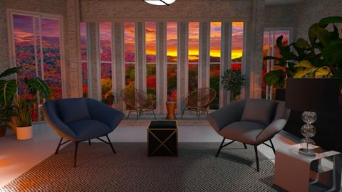 Autumn sunset - Living room - by Sue Bonstra