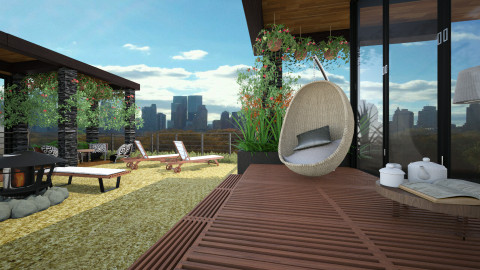 a cozy rooftop - Modern - Garden - by sometimes i am here