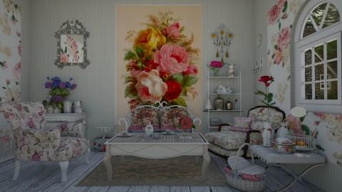 flower inspiration - Vintage - Living room - by snjeskasmjeska