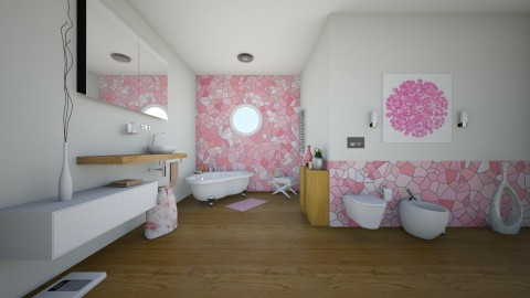 pink - Bathroom - by Aliya Al_755