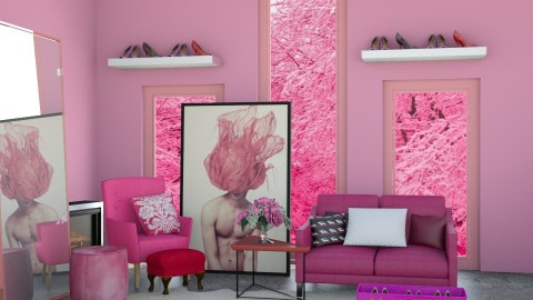 Gorgeous G_Pink Snow - Modern - Living room - by GorgeousGirl