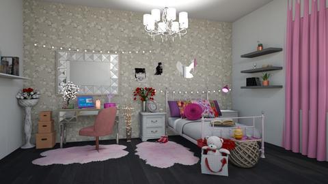 Teenager Bedroom - Feminine - Bedroom - by Dragana2212