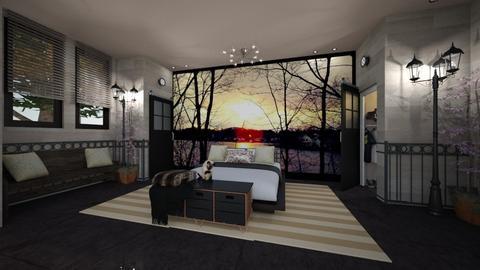 my photo mural bedroom - Bedroom - by kla