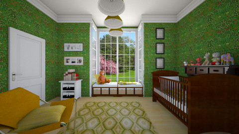 green - Kids room - by ANAAPRIL