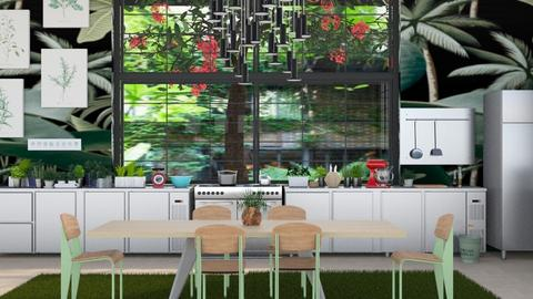 urban jungle kitchen - Modern - Kitchen - by kitty