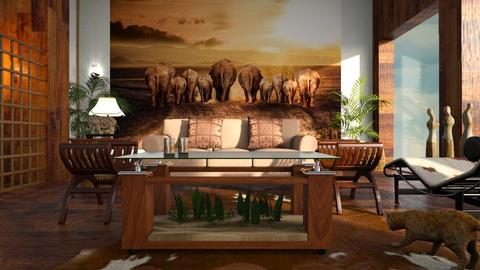 Elephants_are_Leaving - Living room - by ZuzanaDesign