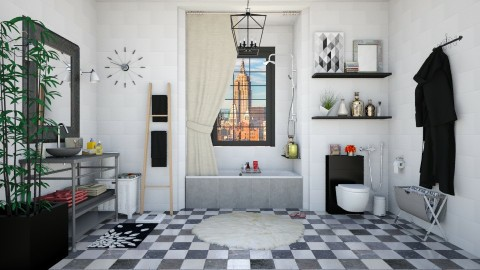 Brooklyn NYC Apartment Bathroom - Retro - Bathroom - by creativediva