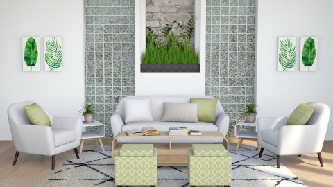 Green - Modern - Living room - by millerfam