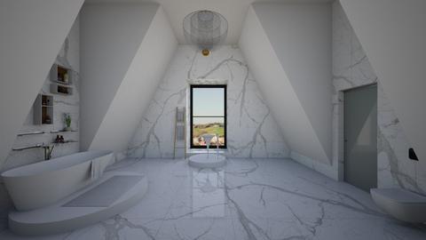 attic bathroom - Minimal - Bathroom - by kitty