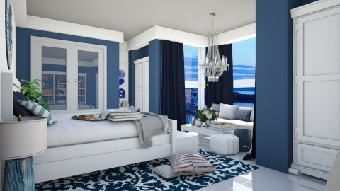 Blue Marine Bedroom - Bedroom - by Thea44