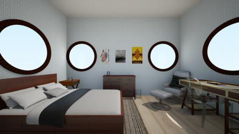 blue - Masculine - Bedroom - by LAS95