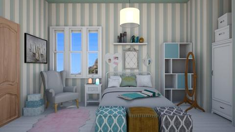 Girls Cottage Bedroom - Bedroom - by Abby Timmons