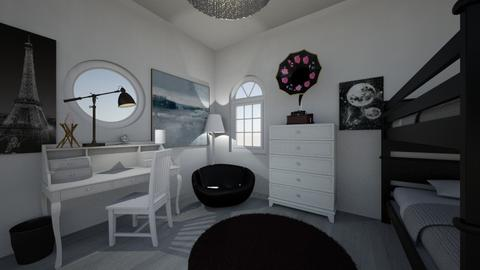 Aesthetic b and w - Bedroom - by ckwoodcook23