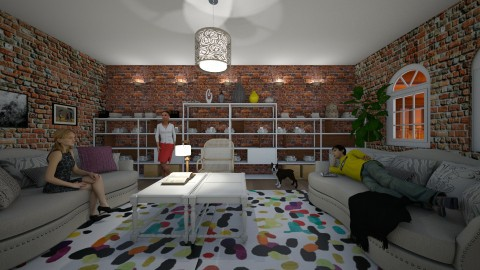 Home for bookworms - Living room - by Tara T