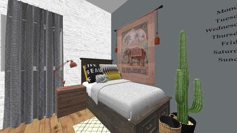 my bedroom - Modern - Bedroom - by izzymondo