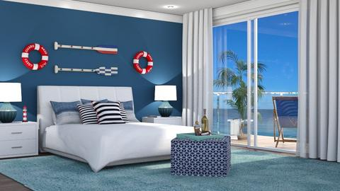 Nautical Bedroom - by neide oliveira