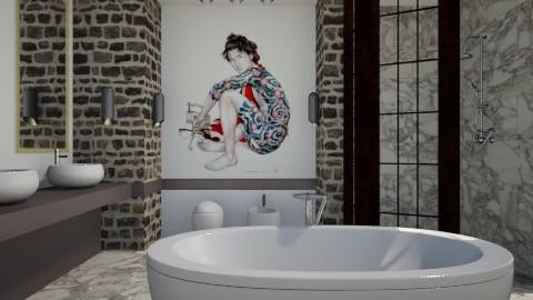Hideki Marble Bath - Modern - Bathroom - by 3rdfloor