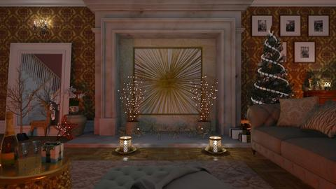 Christmas Luxury - Living room - by LB1981