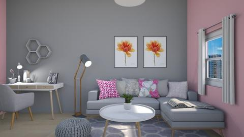 grey and pink - Living room - by tj94