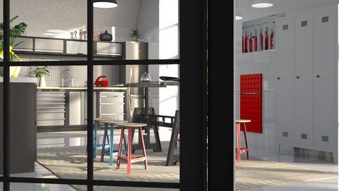 Steel_Kitchen2 - Kitchen - by ZuzanaDesign