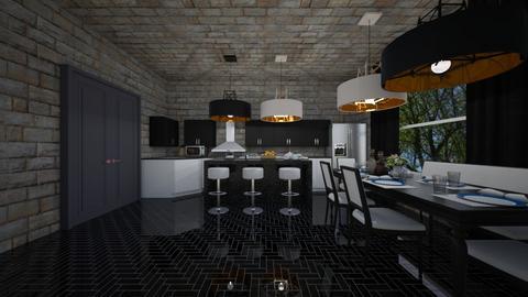 mansion 1 dining kitchen - Kitchen - by guyciara87