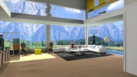 mezzanine chic  - Glamour - Living room - by mimiB