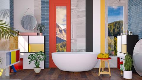 Mid Century Modern Bath - by jasmin_jasmin