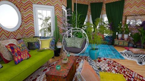 oriental jungle nest 1 - by Moriia