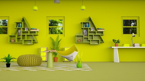 Lime Zest  - Modern - Living room - by InteriorDesigner111