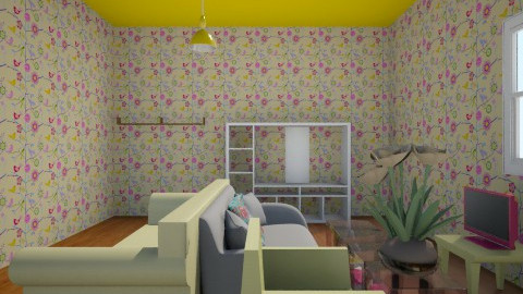 Pink and Yellow Party - Modern - Living room - by Kgray9885