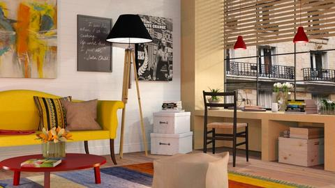 Colourful Living Room - Eclectic - Living room - by Sally Simpson