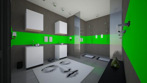 Neon Face - Minimal - Bedroom - by Sali15
