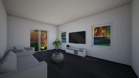design draft - Living room - by EbonysashaInteriors