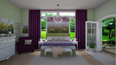 Wild Flower Meadow Bed  - Bedroom - by Kelly Carter