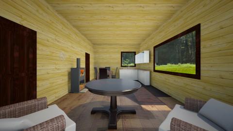 Cabin in the Woods - Rustic - Bedroom - by HaileySpeten