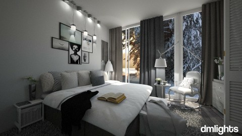 50 shades of gray - Modern - Bedroom - by DMLights-user-1466046