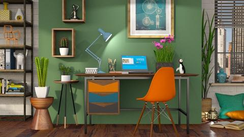 Eclectic Office - Office - by LB1981