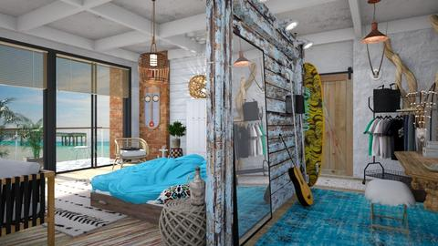 Surf Style Bedroom - Rustic - Bedroom - by evahassing