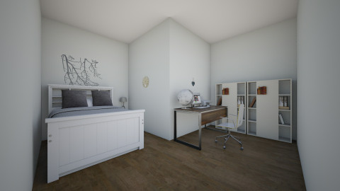 bedroom and office - Bedroom - by Yessica Cabrera